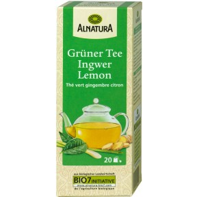 Alnatura Bio Grüner Tee Ingwer Lemon 20x 1,5 g