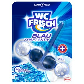 WC frisch Blau Kraft-Aktiv Chlor Duftspüler