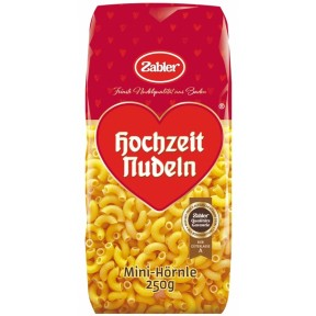 Zabler Hochzeit Nudeln Mini-Hörnle